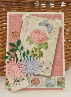 Card by Christine Emberson  (072014)  w/tutorial https://www.scrapbook-adhesives.com/blog/2014/07/19/for-mum/#.Vh2LDZXD85s