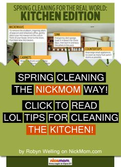 Realistic cleaning tips from @NickMom - Spring Cleaning For the Real World: Kitchen Edition