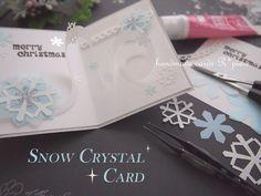 雪の結晶の飛び出すカード