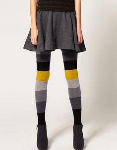 colour block tights
