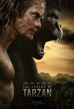 First poster for David Yates' The Legend Of Tarzan, starring Alexander Skarsgard; out July 1st