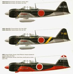 Considered the most effective variant, the Model 52 was developed to face the powerful American Hellcat and Corsair, sup. Navy Aircraft, Ww2 Aircraft, Fighter Aircraft, Military Aircraft, Imperial Japanese Navy, War Thunder, Air Fighter, Aircraft Painting, Airplane Art