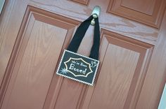 """FREE PRINTABLE at www.kcustomables.com  Fun idea for Halloween - We've Been Booed. """"Boo"""" your neighbor by sneaking a Halloween treat on their front porch, leave the treat and a We've Been Booed sign. They in turn, hang the sign on their door letting everyone know that they have already been """"Booed"""" and then they """"Boo"""" another neighbor."""