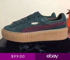 fa25bc571638 Puma X Rihanna Suede Fenty Creepers Green Bordeaux Gum Womens Size  361005-07 Fenty Creepers