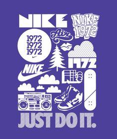 Nike, Just do it Webdesign ! Sports Graphic Design, Japanese Graphic Design, Graphic Design Typography, Graphic Tees, Web Design, Design Logo, Logos, Logo Branding, Self Branding