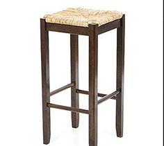 amazoncom wicker rattan wood bar stools counter height 29 inches set of 2 - Amazon Bar Stools