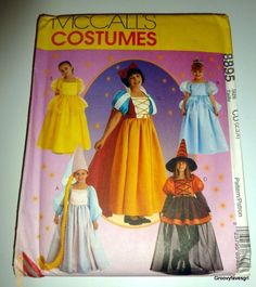 Cinderella Snow White Belle Rapunzel Princess Witch FairyTale Costume Pattern  #McCalls
