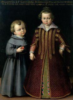 Francesco and Caterina Medici CRISTOFANO ALLORI  (Firenze, 17 ottobre 1577 – Firenze, 1 aprile 1621)  #TuscanyAgriturismoGiratola