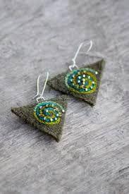 Resultado de imagen para textile earring