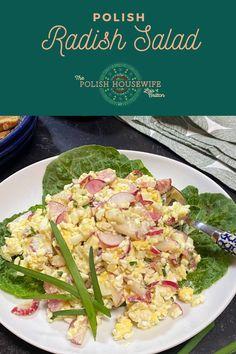 Polish Radish Salad – light, healthy salad with a lovely crunch! Health Benefits Of Radishes, Hotel Breakfast Buffet, Cottage Cheese Salad, Radish Salad, Polish Recipes, Healthy Salads, Low Carb Recipes, Great Recipes, Salad Recipes