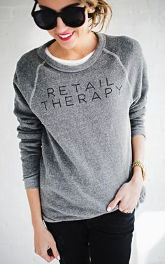 Retail Therapy Grey Sweatshirt – Ily Couture $55.00