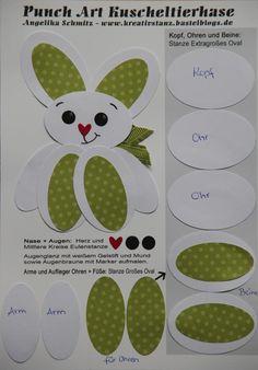 Punch Art Adventskalender Anleitung Hase Ostern Osterhase easter bunny KreativStanz  Stampin' Up! #punchart #tutorial