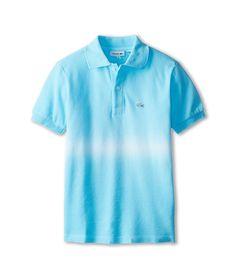 Lacoste Kids Short Sleeve Bar Stripe Tie Dye Pique Polo (Little Kids/Big Kids)