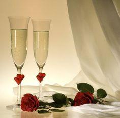 Candle & Rings - Gravierte Sektgläser oder Champagnergläser aus Kristallglas