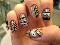want me sommee tribal nails.