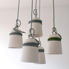 Luminárias de cerâmica com cabos – Patrick Hartog | arktalk