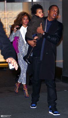 Beyoncé Blue & Jay In NYC 03.04.2014
