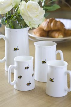 Glorious jugs featuring Busy Bumble Bees from Sophie Allport