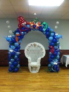 Under the Sea balloon Arch Baby Shower Balloons, Birthday Balloons, Spongebob Party, Mermaid Theme Birthday, Baby Birthday, Birthday Ideas, Balloon Decorations, Balloon Ideas, Little Mermaid Parties