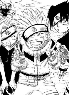 Funny Naruto Manga Coloring Page - Download & Print Online Coloring Pages for Free