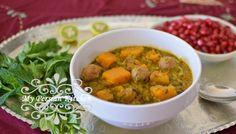 Asheh Kadoo Halvai (Butternut Squash Soup) - the perfect meal!