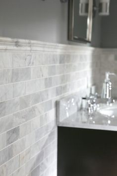 The perfect backsplash for kitchen/bathroom. Ancient stones from the Mediterranean mountains. Marble Bathroom, Bathroom Renos, Home, Remodel, Bathroom Makeover, Bathrooms Remodel, Beautiful Bathrooms, Bathroom Inspiration, Tile Bathroom