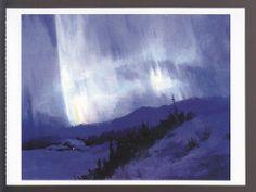 SYDNEY MORTIMER LAURENCE Aurora Borealis ALASKA ART ARTWORK PAINTING POSTCARD #Collectible