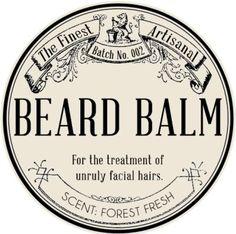 DIY beard balm label
