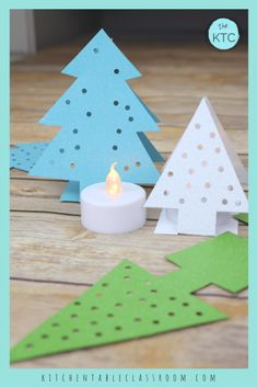 christmas tree paper These paper Christmas tree ornaments come together quickly with just card stock! This easy Christmas craft for kid is perfect on the mantle or holiday table Christmas Family Feud, Kids Christmas, Christmas Tree Ornaments, Kitchen Ornaments, Burlap Christmas, Country Christmas, Christmas Snowman, Christmas Christmas, Christmas Wreaths