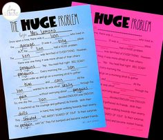 Students create their own story with this fill in the blank FREEBIE!