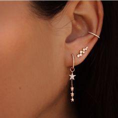 Star Dangle Huggie Hoop Earrings (Pair) – SpiritAdornments Source by mufeha piercings Ear Jewelry, Cute Jewelry, Jewelery, Jewelry Ideas, Prom Jewelry, Jewellery Box, Jewelry Findings, Jewelry Quotes, Jewellery Earrings