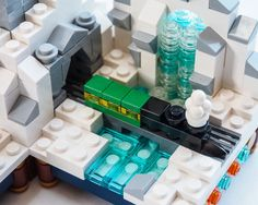 #LEGO #microscale train with waterfall detail