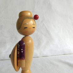 Vintage Kokeshi Doll  Geisha style with by VenerablePastiche, $28.00