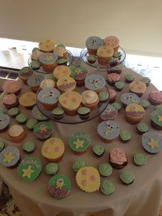 Nursery Rhymes cupcakes for a a baby shower