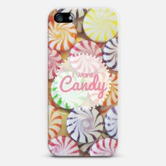 I Want Candy | #Love ! Personalize your #iPhone and #Samsung Galaxy device case using Instagram, Facebook and personal photos on #Casetagram #swag #candy #love #colourful