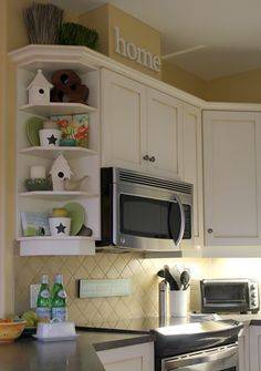 Example of curved corner cabinet