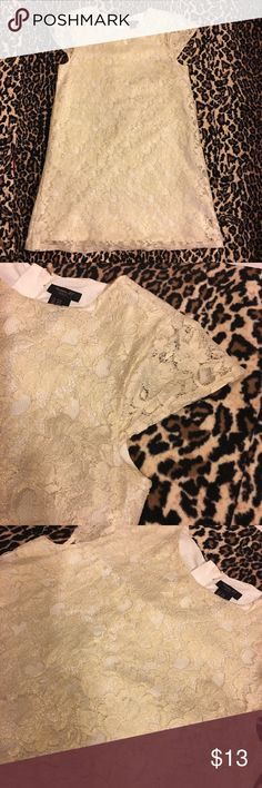 🦄 Forever 21 Girls Dress 🦄 🦄 Fovever 21 Girls Lace Dress 🦄  Beautiful lace dress with gold zipper on back Size 9/10 Forever 21 Dresses