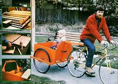DIY Bike Cart. I'm not sure whether I like this more for the project (which is rad) or for the dude riding the bike.