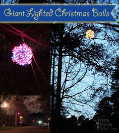 How to Make Giant Lighted Ornament Balls - Pretty Handy Girl