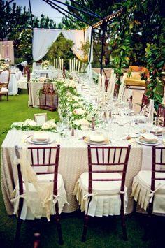 beautiful garden reception