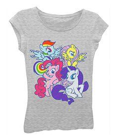 Look what I found on #zulily! Heather Gray My Little Pony Tee - Girls #zulilyfinds