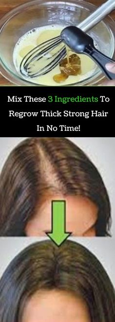 Mix These 3 Ingredients To Regrow Thick, Strong Hair In No Time! Click here To Read