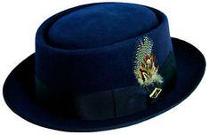 d12ece3637d With the Stacy Adams wool felt rocker pork pie hat you can embrace your  inner rocker