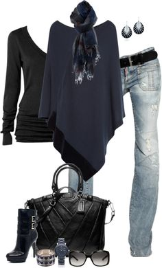 """Poncho (III)"" by partywithgatsby on Polyvore"