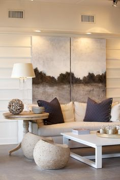 soft earth shades and rustic elements - Pizitz Home & Cottage in Seaside FL.   theseasidestyle.com