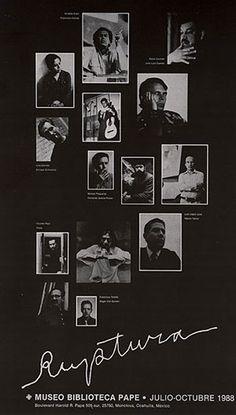 Cartel exposición de la Ruptura, Museo Biblioteca Pape, junio de 1988. Cartel: Manuel Felguérez. Foto: Francisco Kochen