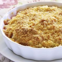 Deep South Dish: Old Fashioned Baked Pineapple Casserole Crunch Recipe, Crumble Recipe, Casserole Dishes, Casserole Recipes, Squash Casserole, Easter Recipes, Holiday Recipes, Rhubarb And Apple Crumble, Berry Crumble