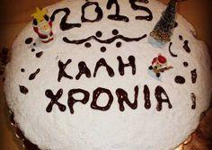 Βασιλόπιτα κέικ κλασική Letter Standee, Bad Cakes, Cake Receipe, Greek Recipes, Food And Drink, Xmas, Birthday Cake, Cookies, Desserts