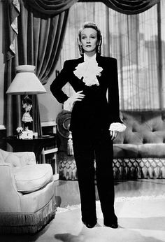 9b2cb520e534d9 circa 1930's Marlene Dietrich right pictured wearing slacks one of the  first to wear them A German born actress who first won fame in the film  'The.