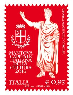 Francobollo celebrativo di Mantova Capitale Italiana della Cultura 2016